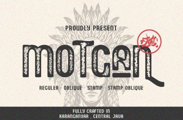 Motgan Display Font Free