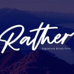 Rather Brush Font Free