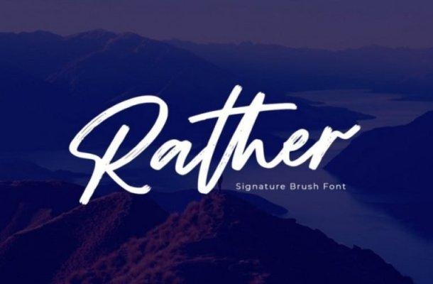 Rather Brush Font Free