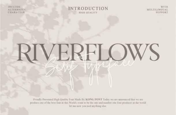 Riverflows Serif Font Free