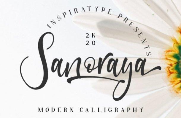Sanoraya Calligraphy Font