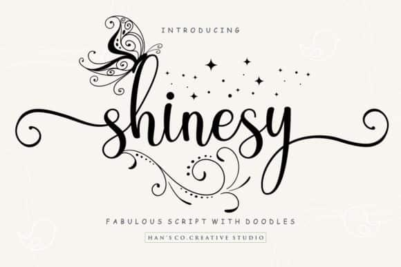 Shinesy Calligraphy Font Free