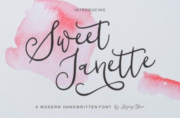 Sweet Janette Handwritten Font
