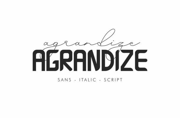 Agrandize Font Duo Free