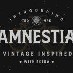 Amnestia Vintage Serif Typeface