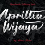 Aprillia Wijaya – Handmade Lettering Font