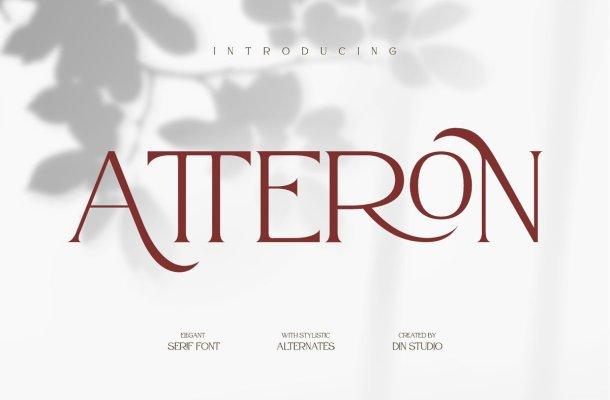 Atteron Elegant Serif Typeface
