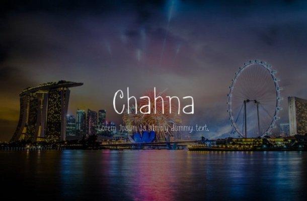 Chahna Handwritten Font Free