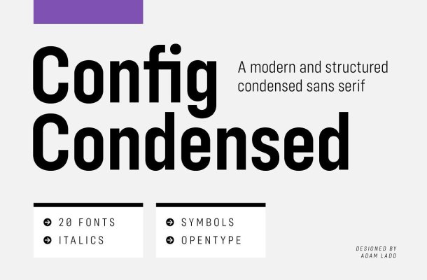 Config Condensed Sans Font Family