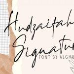 Hudzaifah Signature Script Font