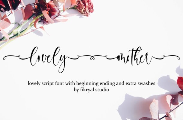 Lovely Mother Calligraphy Script Font