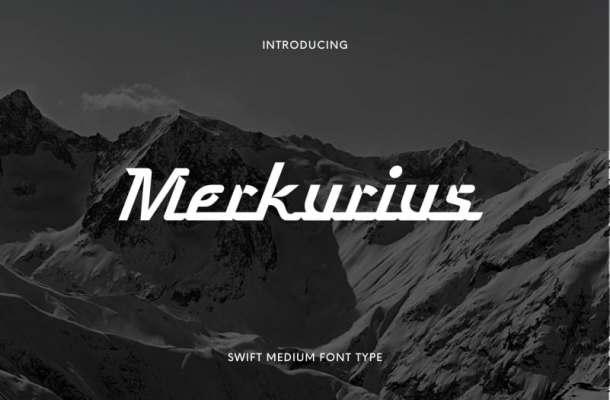Merkurius Display Font