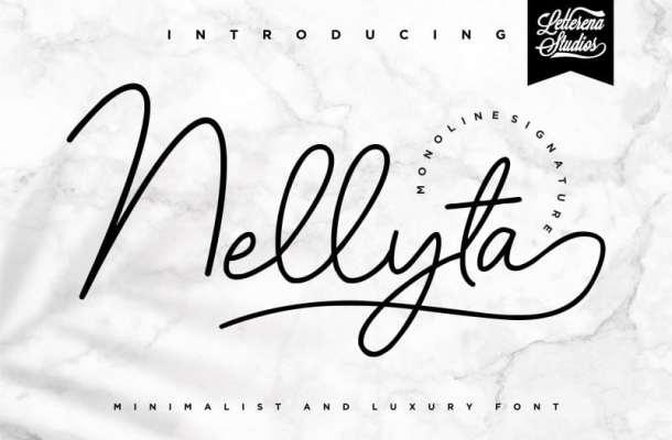 Nellyta Monoline Font