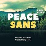 Peace Bold Sans Serif Typeface