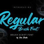Regular Brush Script Font