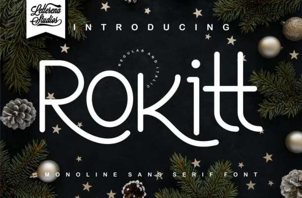 Rokitt – Monoline Sans Serif Font