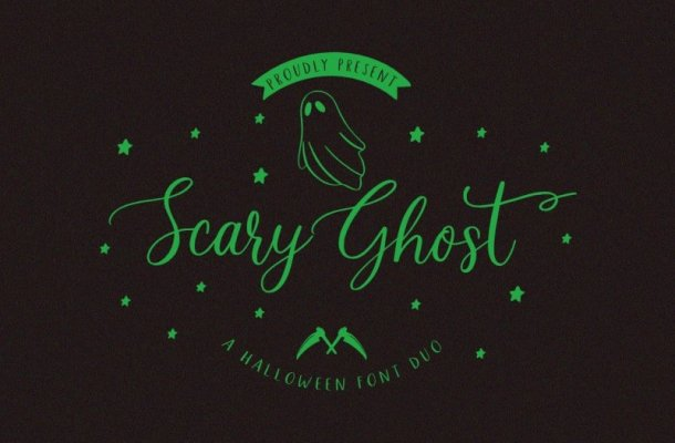 Scary Ghost – Halloween Font