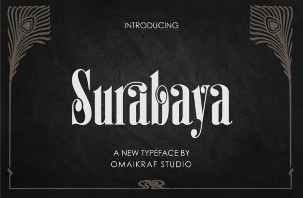 Surabaya Display Font Free