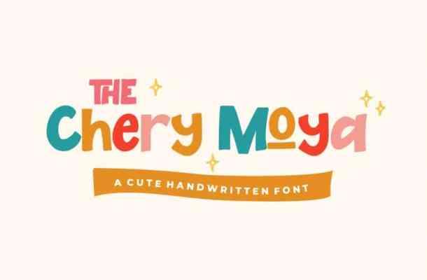 The Chery Moya Display Font