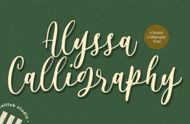 Alyssa Calligraphy Font Free