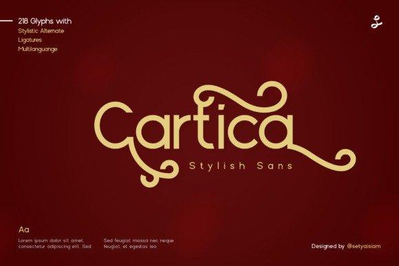 Cartica Sans Serif Font