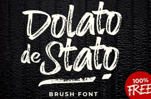 Dolato de Stato Brush Font