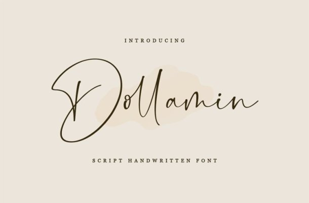 Dollamin Calligraphy Font Free