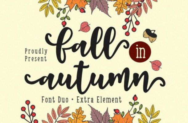 Fall in Autumn Script Font