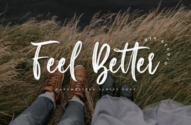 Feel Better Brush Font