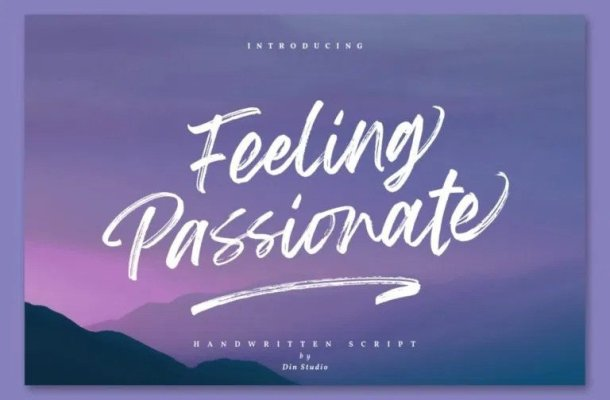 Feeling Passionate Brush Font