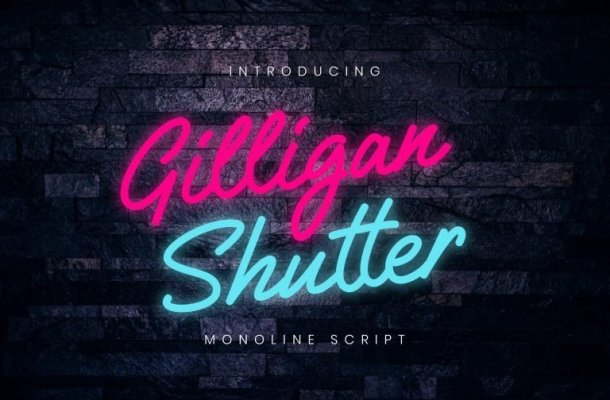Gilligan Shutter Script Font