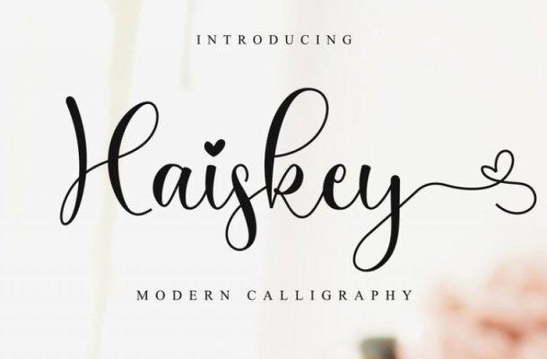 Haiskey Calligraphy Font