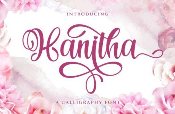 Hanitha Calligraphy Font Free
