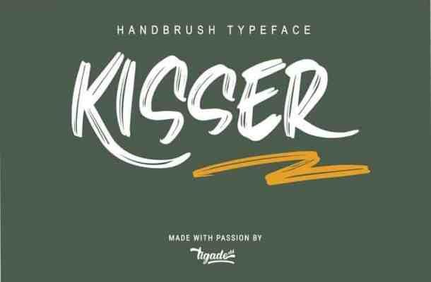 Kisser Brush Font Free