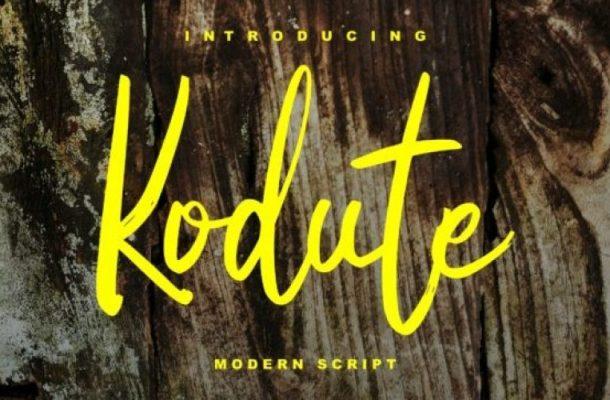 Kodute Script Font Free