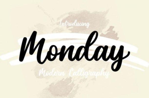 Monday Script Font Free