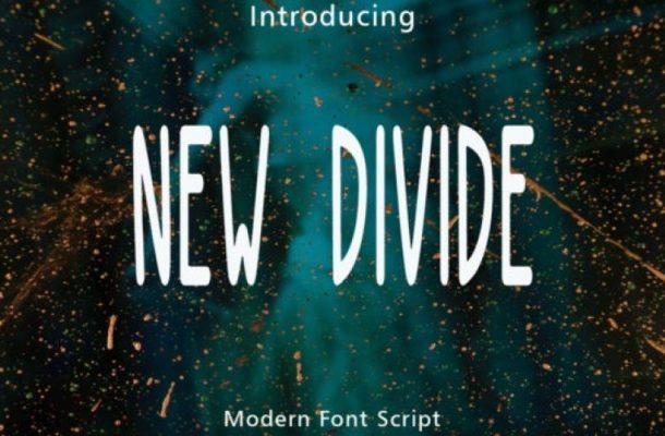New Divide Display Font