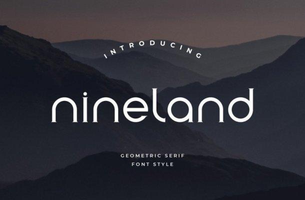 Nineland Display Font Free