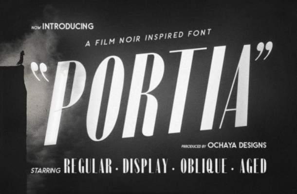 Portia Display Font Free