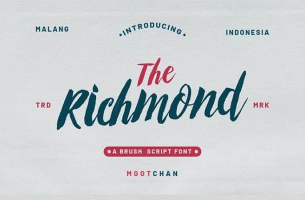 Richmond Brush Font Free