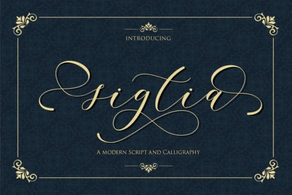 Sigtia Calligraphy Font Free