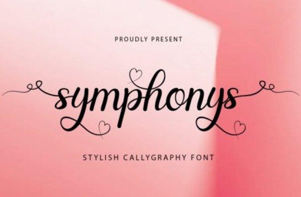 Symphonys Calligraphy Font