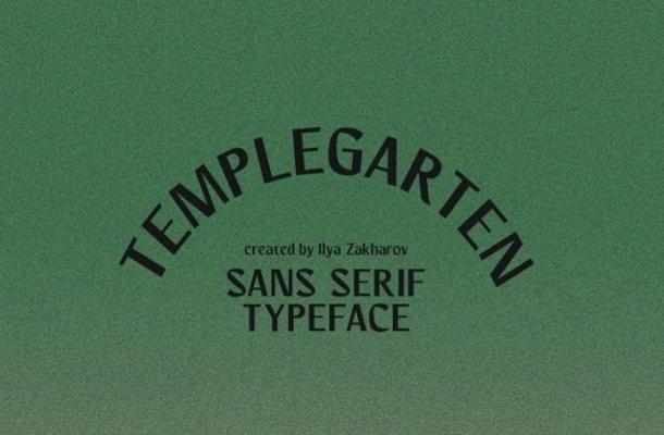 Templegarten Sans Serif Font