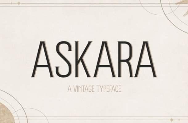 AT Askara Serif Font
