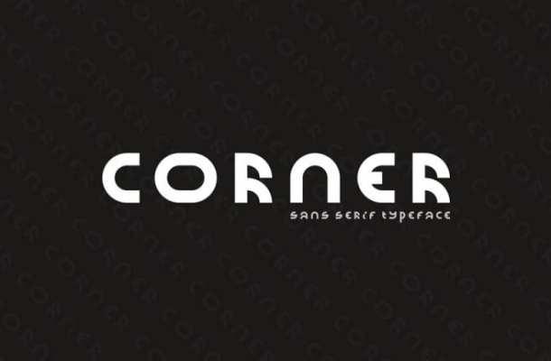 Corner Display Font