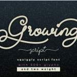Growing Handwritten Font