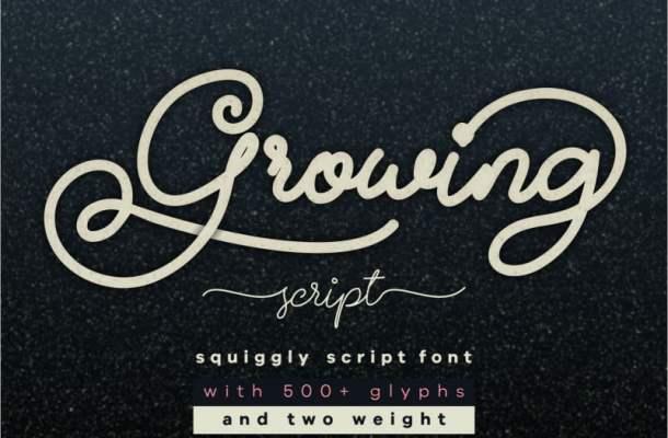 Growing Handwritten Font