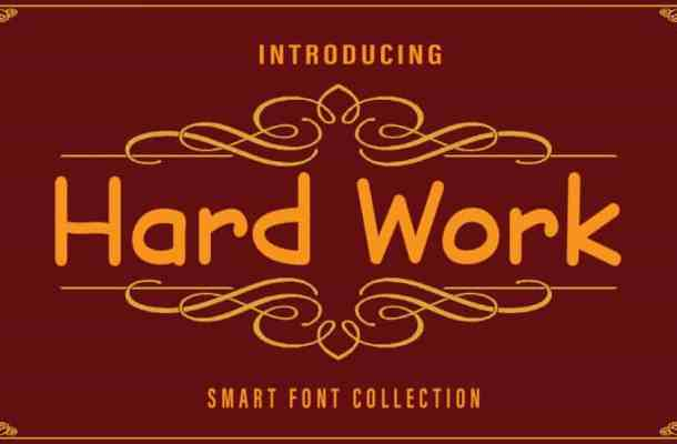 Hard Work Display Font