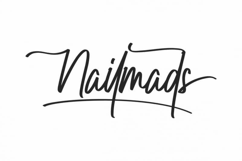 Nailmads Handwriting Font