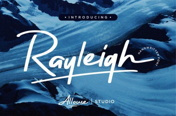 Rayleigh Brush Font